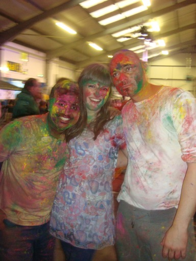 Polly with a couple of colour powder party friends!