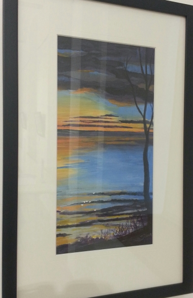 Sunset 2 (part of a two-piece set) by Shirley Snook.