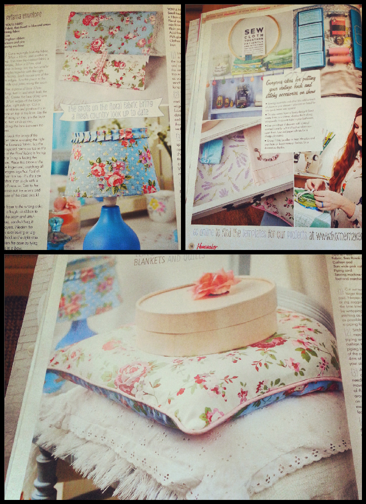 Charming five-page feature on creating pretty bedroom accessories. I loved the Cath Kidston feel. Projects varied from a quick and simple pyjama envelope, to a cushion cover - still simple, but a few more machine skills required.