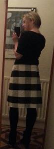 My own A-line skirt, my first ever handmade garment.