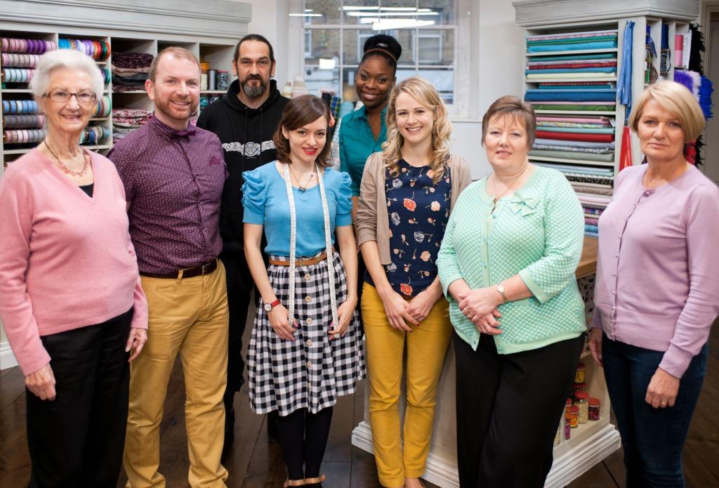 L - R Jane, Stuart, Mark, Tilly, Michelle, Lauren, Sandra, Jane.