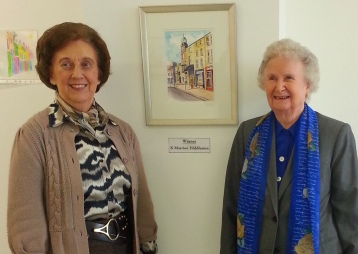 Granny (right) and her winning artwork!
