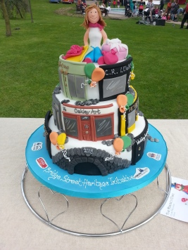 Cake made specially for the festival by The Perfect Cake Lisburn.