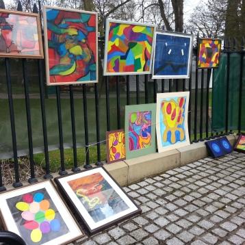 Some of artist Alex Braniff's work.