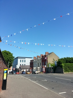 Setting aside any opinions relating to the colour palette, the bunting looks summer-fête-sweet against the blue skies.