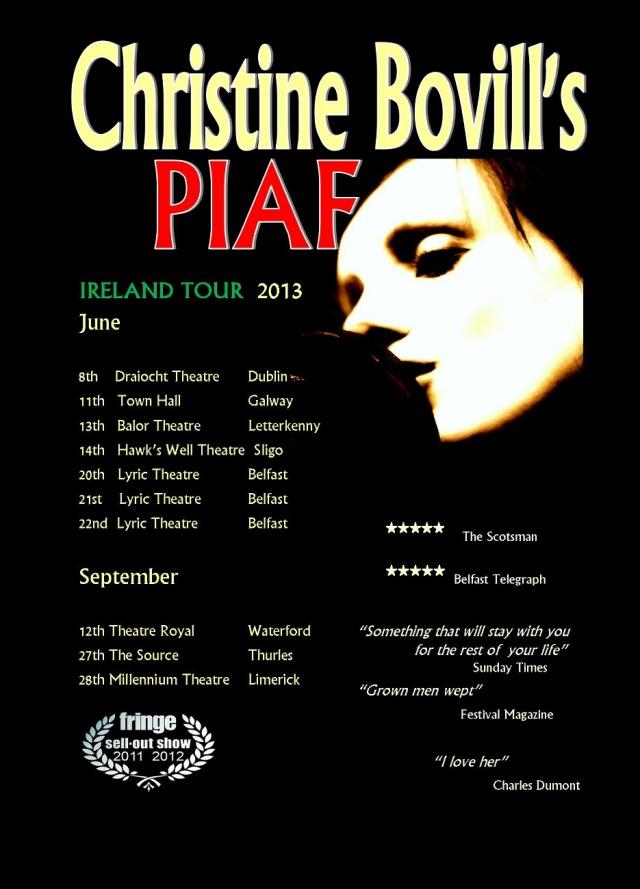 Details of the Irish tour.