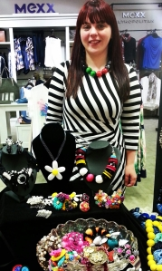 Melanie Bond with her creations