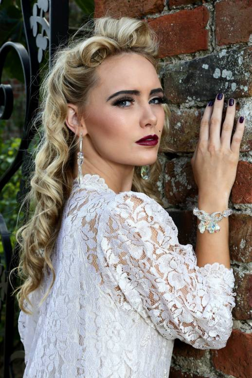 Hair by Hannah Fowler, jewellery by Melanie Bond and make up by Lesley-Ann Watson. Pic: Stephen Potter, Model: Jade Topping.