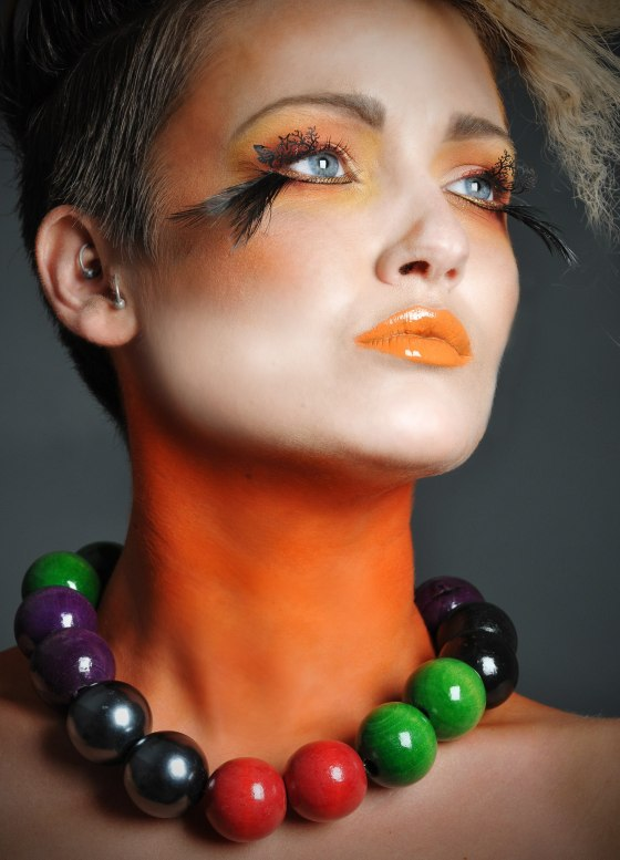 Hair: Caroline McNeill, Model: Jenna G, make up: Julia Clements. Pic: Shelley Rodgers Photography.