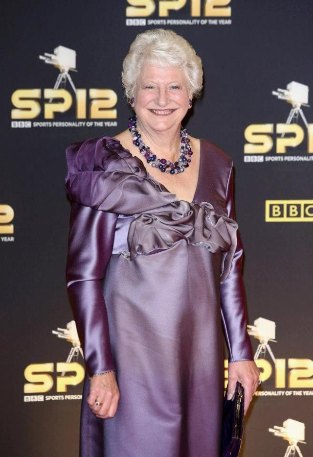 Dame Mary Peters, wearing a specially-commissioned piece from Melanie Bond Jewellery (Photo by Tim Whitby-Getty Images) 2012 Getty Images