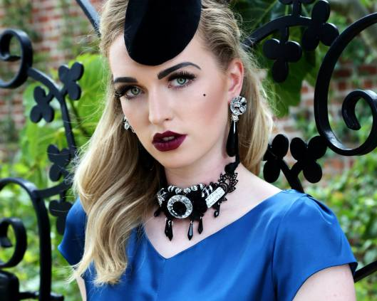 Headpiece by Marie-Claire Millinery, hair by Hannah Fowler, jewellery by Melanie Bond and make up by Lesley-Ann Watson. Pic: Stephen Potter