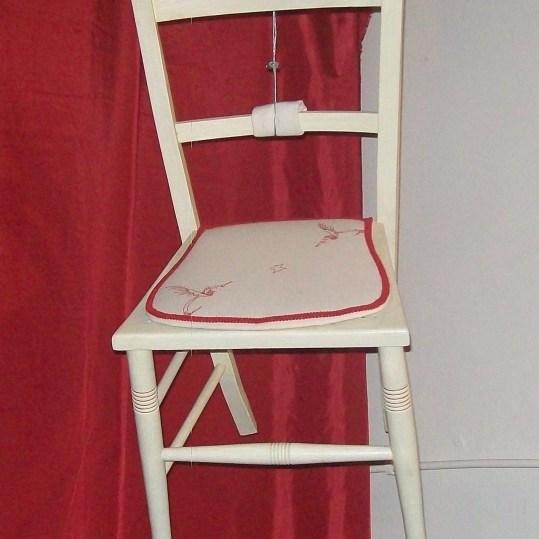 Hummingbird street art-inspired chair
