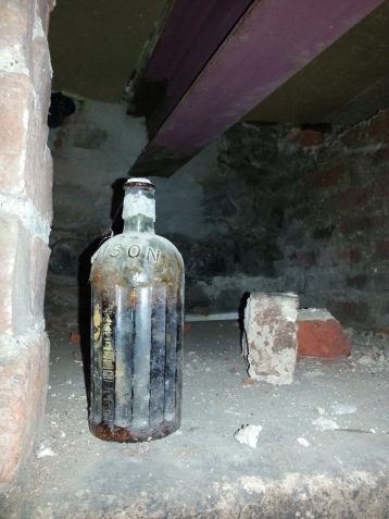 An old bottle of stout in the basement!