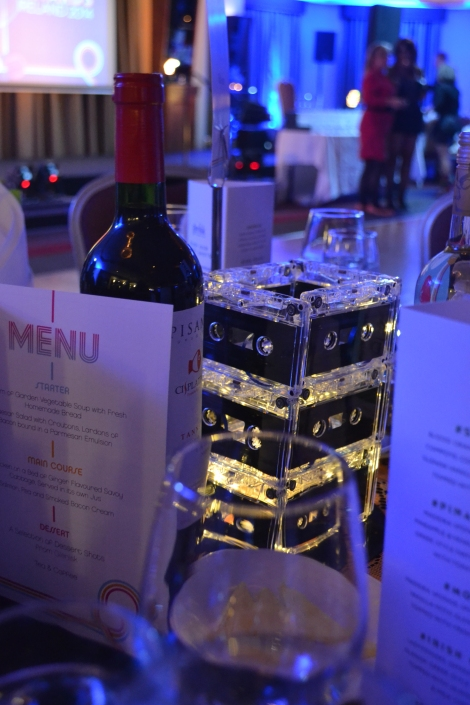 I loved the cassette tape table centrepieces. So creative!