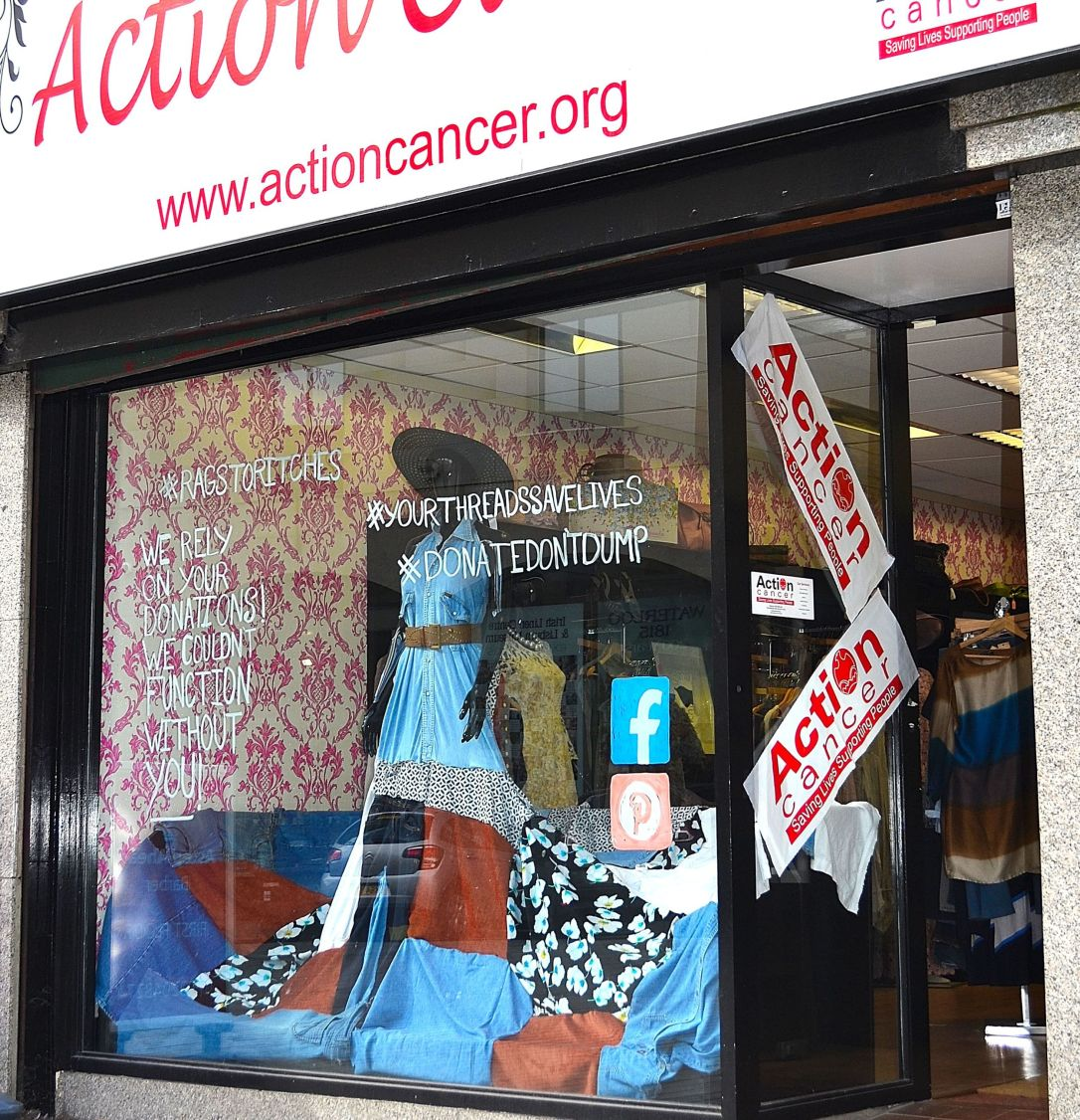 Action Cancer boutique in Lisburn's Market Square