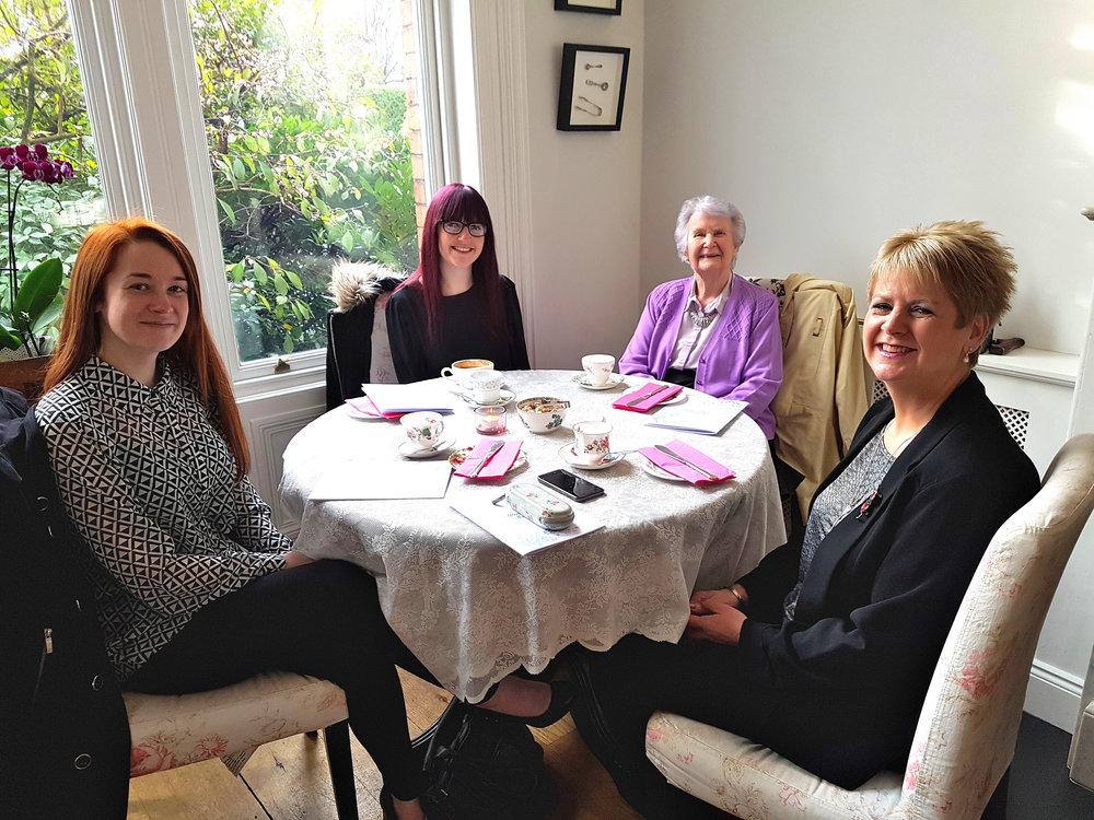 L - R: Me, my sister Polly, Granny and Mum.